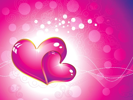 abstract pink heart wallpaper illustration Vector