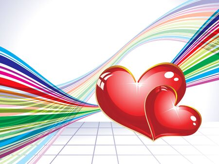 abstract valentine day concept illustration Vector