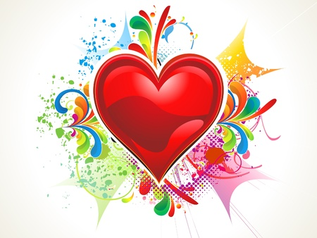 abstract shiny red heart wallpaper vector illustration Stock Vector - 12274330