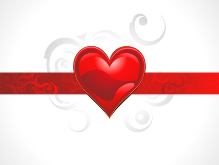 abstract shiny red heart concept vector illustration Stock Vector - 12274323