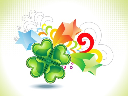abstract st patrick clover explode vector illustration Vector