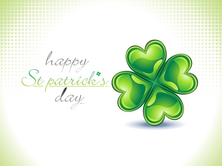four leafed: abstract st patrick wallpaper vector illustration