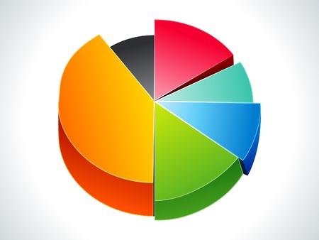 Résumé illustration colorée vecteur de business chart
