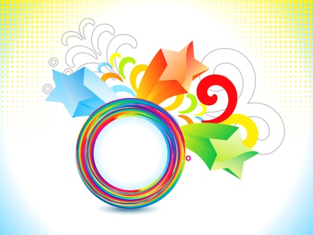 abstract colorful rainbow explode vector illustration Vector
