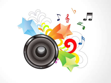 abstract colorful musical sound vector illustration Stock Vector - 12491081