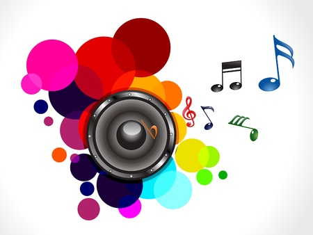 abstract colorful musical sound vector illustration Stock Vector - 12491113
