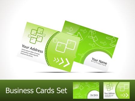 visitekaartje: abstracte groene adreskaartjemalplaatje vector illustratie Stock Illustratie