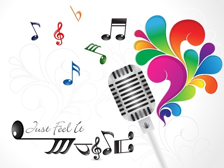 abstract colorful musical mic vector illustration