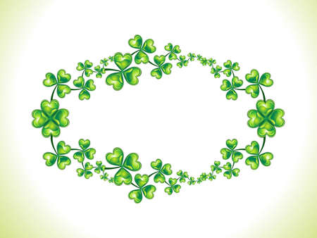 abstract green shiny st patrick border vector illustration Stock Vector - 12491083