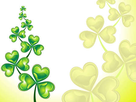 four fourleaf: abstract st patrick background vector illustration
