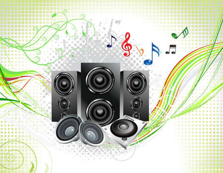 abstract multiple music instruments background vector illustration Stock Vector - 12491135