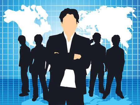 teamleider: abstracte teamleider achtergrond vector illustratie