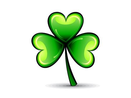 four leafed clover: abstracta de San Patricio del tr�bol verde brillante ilustraci�n vectorial