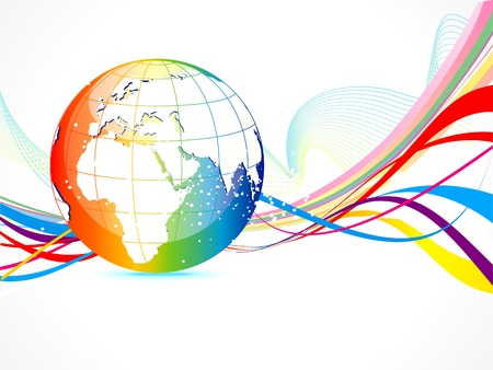 abstract colorful globe background vector illustration