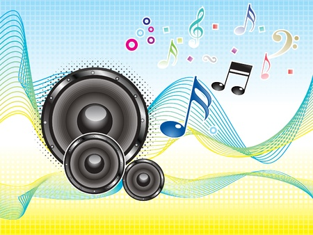 sound box: abstract colorful music sound wave wallpaper vector illustration Illustration