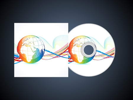 abstract corporate cd template vector illustration Vector