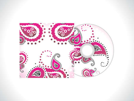 dvd cover: abstract floral cd template vector illustration