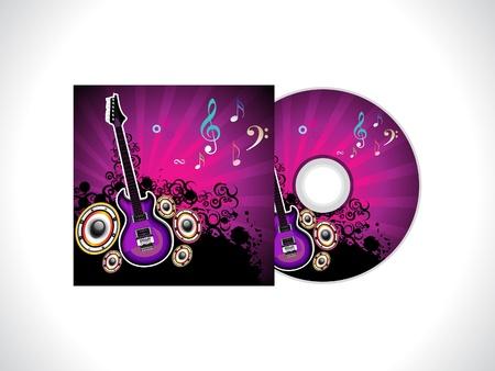 abstract music: abstracte muziek cd template vector illustratie Stock Illustratie