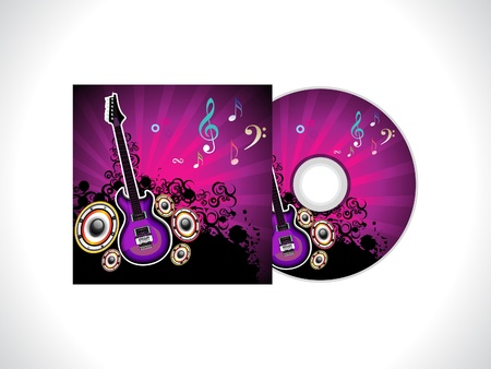 abstract music cd template vector illustration