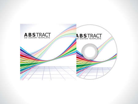 abstract colorlul cd template vector illustration
