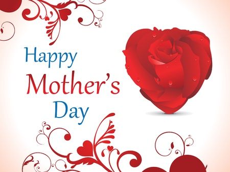 abstract mother day background vector illustration Vettoriali