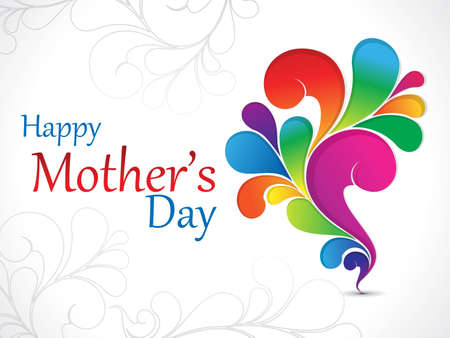 abstract mother day background vector illustration Vector