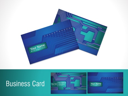 abstract digital business card template vector illustration Vector