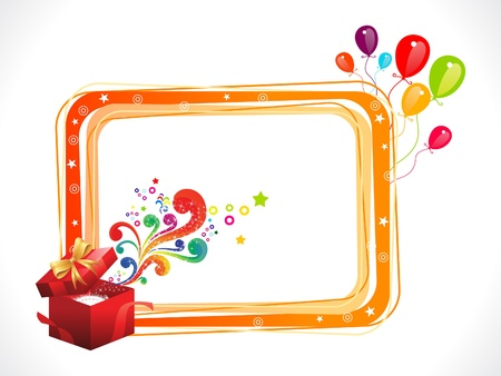abstract colorful birthday frame with magic box