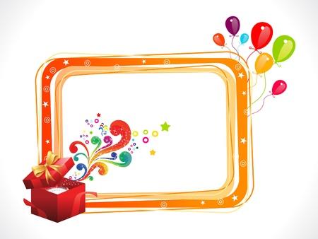 verjaardag frame: abstracte kleurrijke verjaardag frame met magische doos