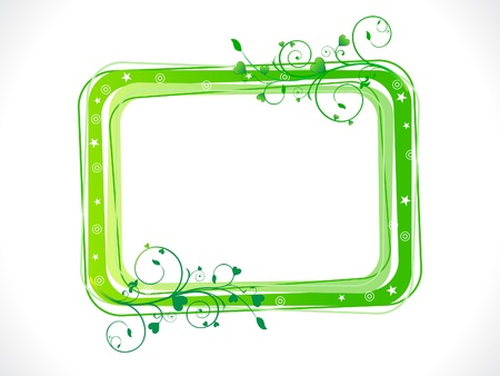 abstract green eco floral frame template  Stock Vector - 13171925
