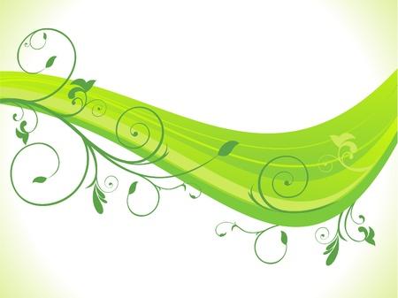 abstracta verde eco de fondo de onda Foto de archivo - 13171923