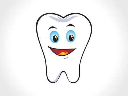 molar: abstract happy tooth icon   Illustration