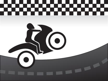 motor race: abstract ras concept illustratie