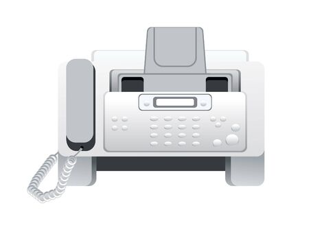 fax machine: abstract fax machine icon vector illustration
