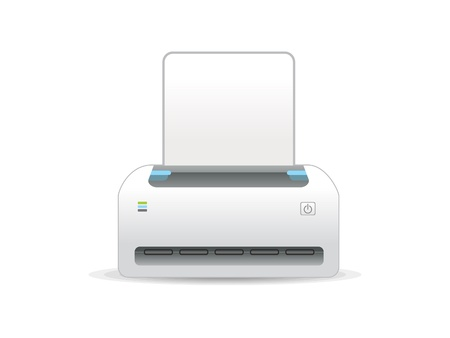 office printer: abstract printer icon vector illustration