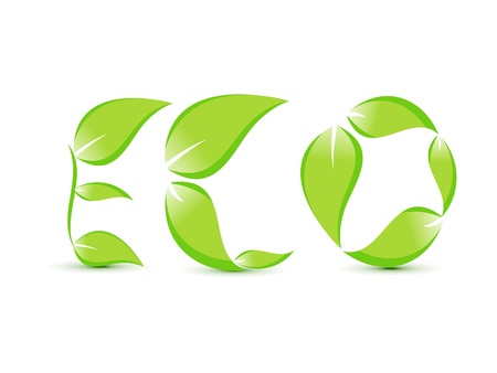 abstract eco text template illustration Vector