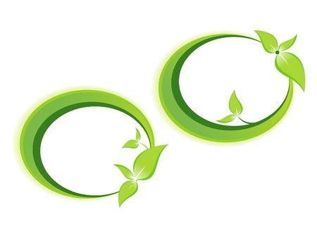 herbals: abstract leaf based template illustration Illustration