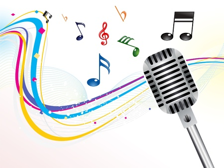 abstract musical mic background vector illustration Illustration