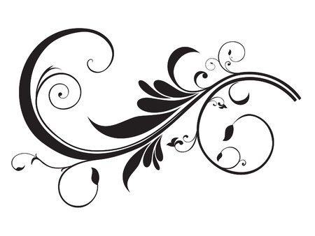 curve line: abstract artistic floral template vector illustration Illustration