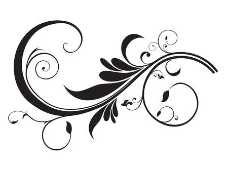 curvas: art�stico abstracto plantilla de flores ilustraci�n vectorial Vectores