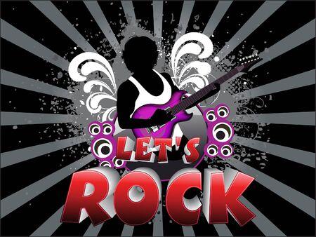 lets: abstract lets rock background  vector illustration Illustration