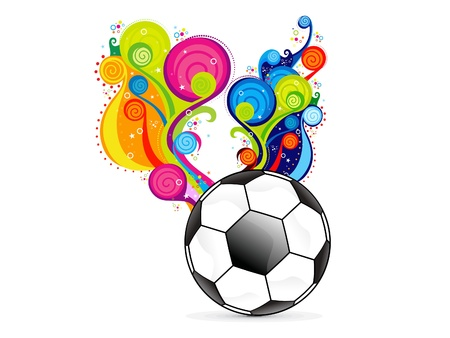 abstract colorfull football explode vector illustration Vector