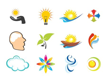 abstract multiple logo templates illustration Vector