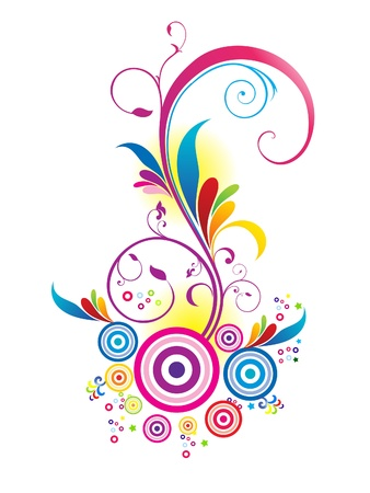 abstract colorful floral background illustration