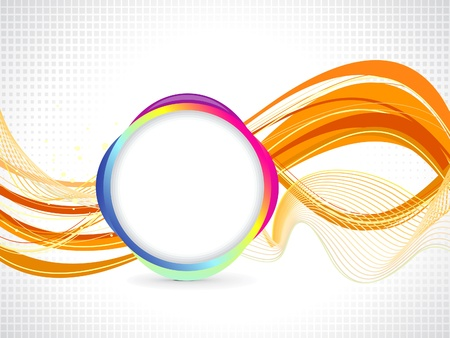 abstract orange based background illustration