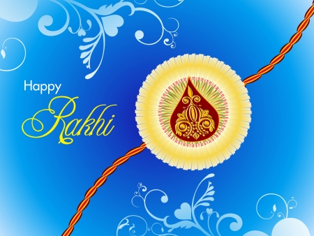 abstract raksha bandhan wallpaper illustration Vector