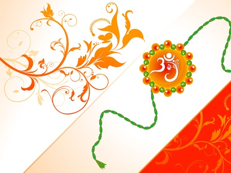 abstract raksha bandhan background illustration Vector