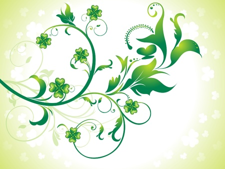 abstract st patrick floral background illustration Stock Vector - 14402614