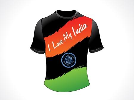 shirt template: abstract indian patriotic tshirt illustration