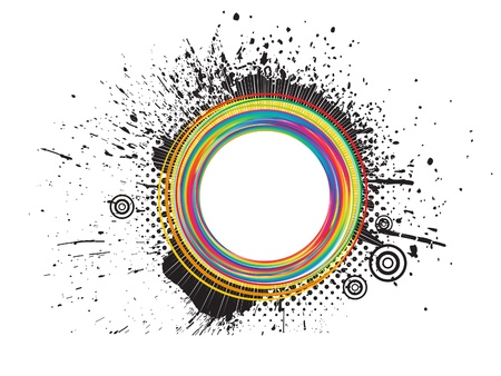 abstract colorful grunge splash illustration Vector